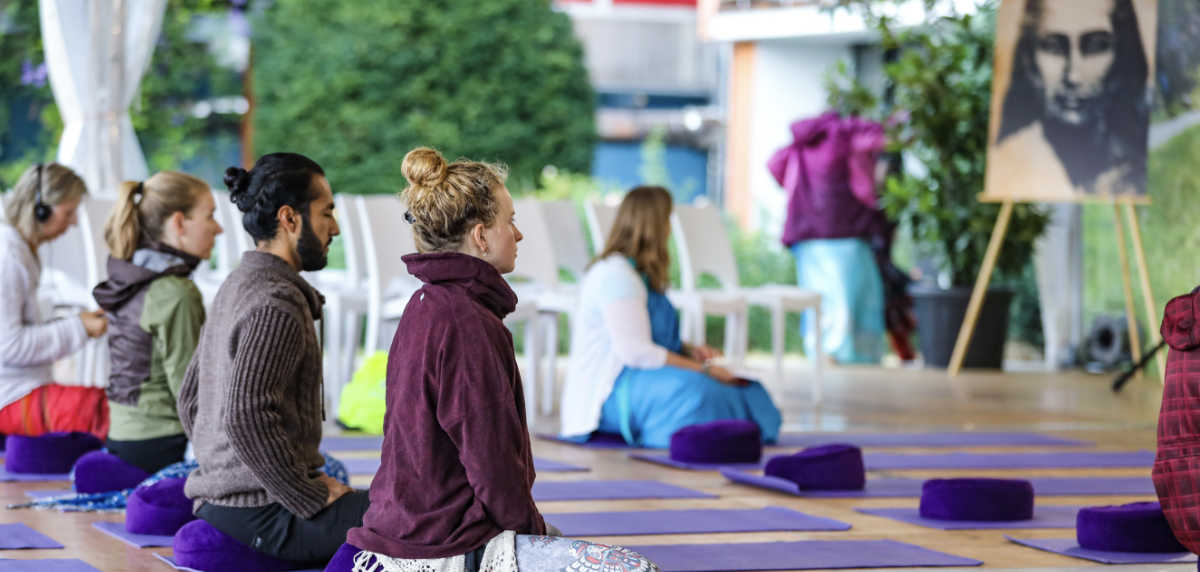 Atma Kriya Yoga session