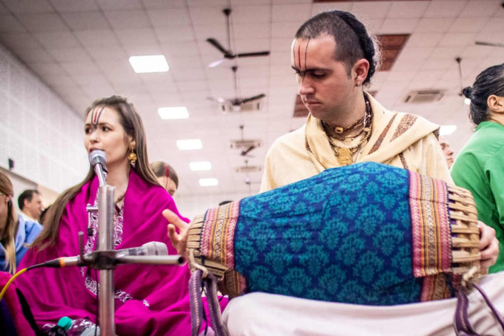 Kirtan Musicians playing live